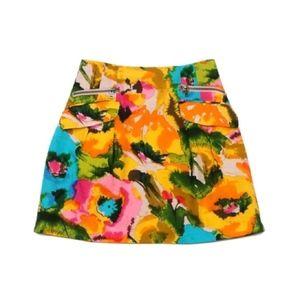 • Nanette Lepore • Bright Floral-Print Mini Skirt